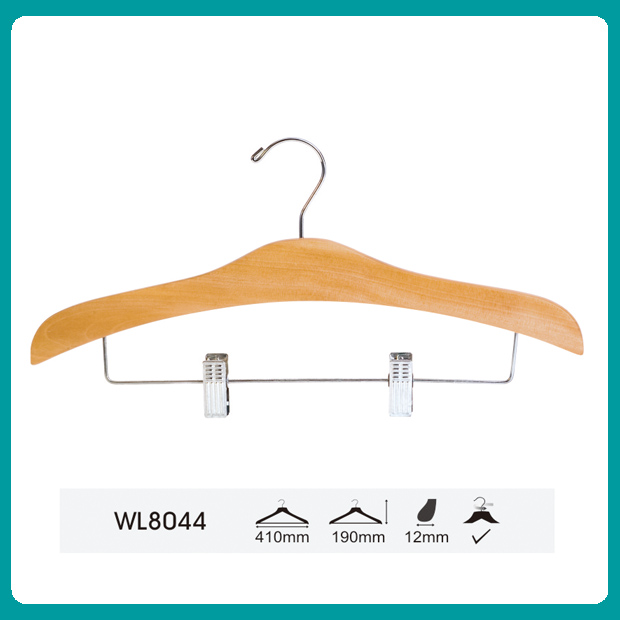 Wholesale metal hook clothes wood hanger
