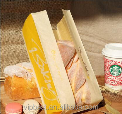 Custom Printed Paper Bag for Sandwich Hamburger Package