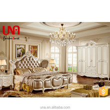 9918 royal style luxury king size bed Foshan lecong house used European Italian design bedroom furniture set