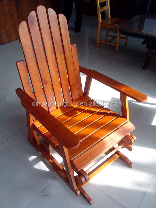 wooden garden swivel glider rocker recliner