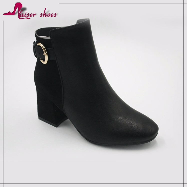 Low price wholesale thigh high heel lady woman chelsea ankle boots shoes women leather short boot