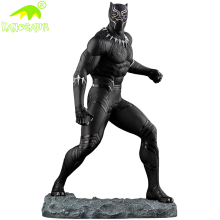 KANOSAUR0792 Artificial movie model fiberglass Black panther statue