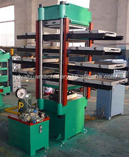 rubber tile making machine and mould