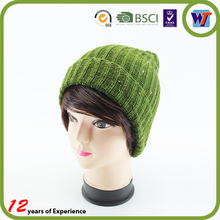 Custom Organic Bamboo Knitted Hat Beanie With Logo Flat Embroidery