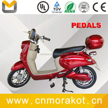 500w 30-40km/h adult electric 2 wheel scooter/moped scooter with pedals for lady-- LS1-4