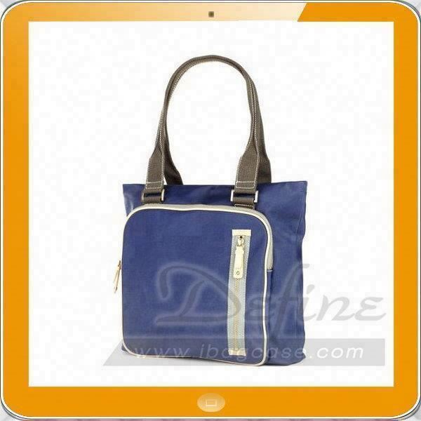 Medium check canvas hobe tote bag