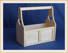 wholesale cheap small kids toy custom wooden tool box