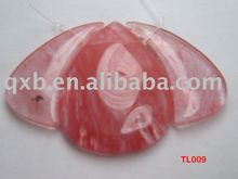 cherry quartz pendant set wholesale jewelry