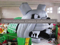 Factory Price!!!dog Event Animal Inflatable/Tiger Arch/Cartoon Archway/Mascot Tunnel