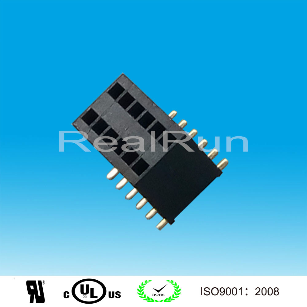 PCB Connector 1.27mm Pitch 20Pin SMD SMT Dual Row female header connector