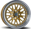 Aluminium Alloy gold machine face CCW car wheels