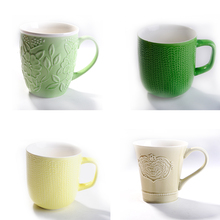 wholesale cheap and high quality v-shaped ceramic coffee mugs ceramic garden table set with custom logo,promotional mugs