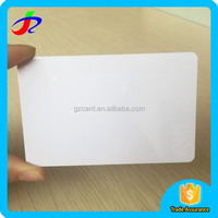 2017 hot sale high quality clear CR-80 credit card size white blank plastic pvc id cards