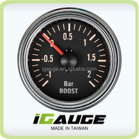 100% Made in Taiwan 52mm VDO Type Chrome Rim Boost Gauge