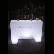 straight bar counter with LED lighting rectangle LED bar counter