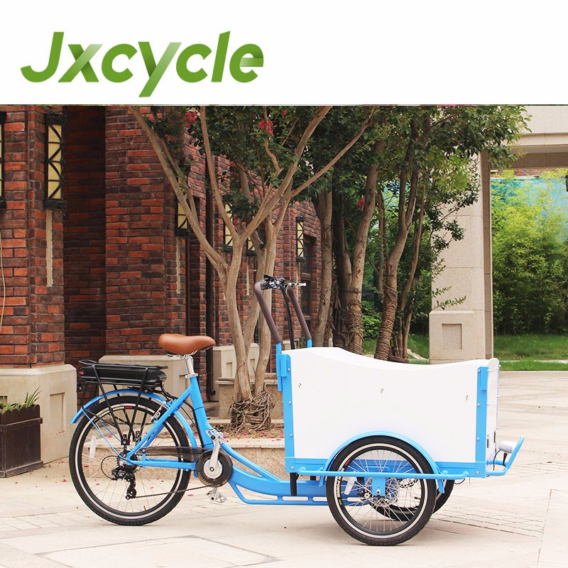 shopping 3 wheel electric cargo bike