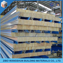 thermal insulated high intensity rock wool sandwich panel construction