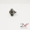 Hot Sale Fashion Punk Style Antique Cross Stainless steel Daihe Men Ring