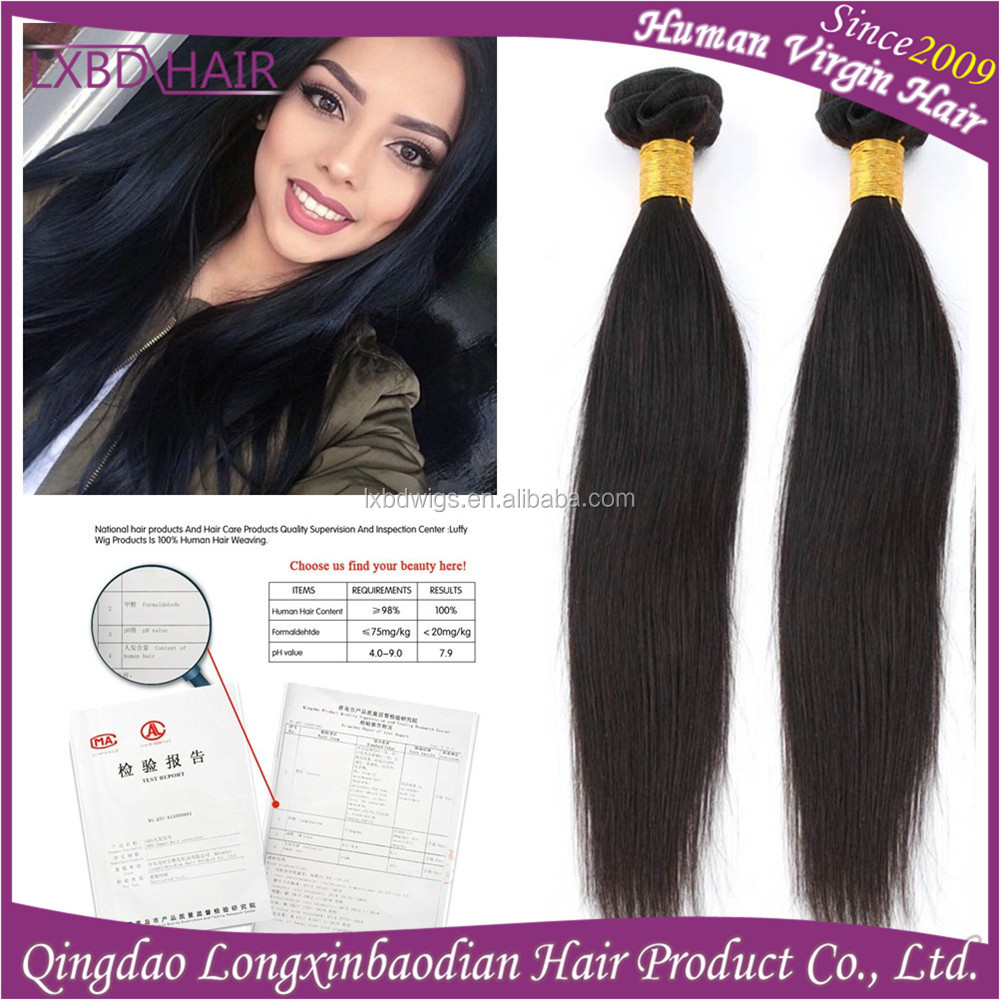 Straight queen grade 7a virgin hair products natural black bob hairstyles Indian straight hair