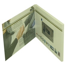 Wholesale greeting cards, 7 inch TFT screen video card, electronic brochure