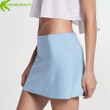 professional fashion design ladies polyester plain sexy tennis wear short skirt low price