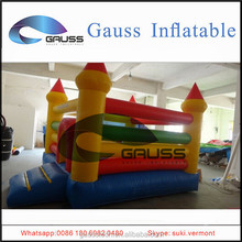 PVC jumping inflatable castle/inflatable bouncing castle with slide