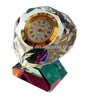 Audreyia diamond cut crystal clock