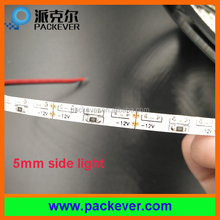 12V/24V 5m/roll 48W 5mm flexible side emitting LED tape light