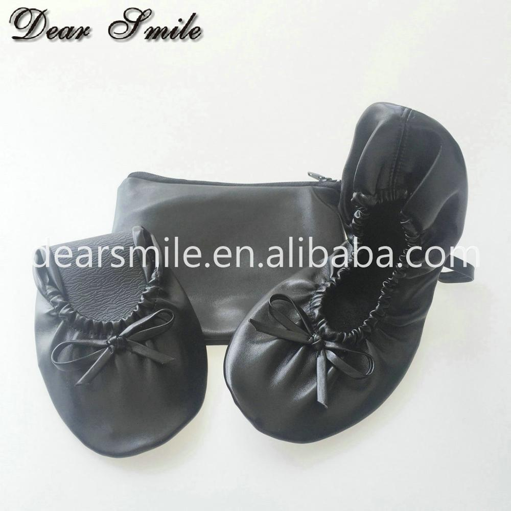 Hot Selling women portable ballet shoes disposable ballet flat shoes online for travel and shopping