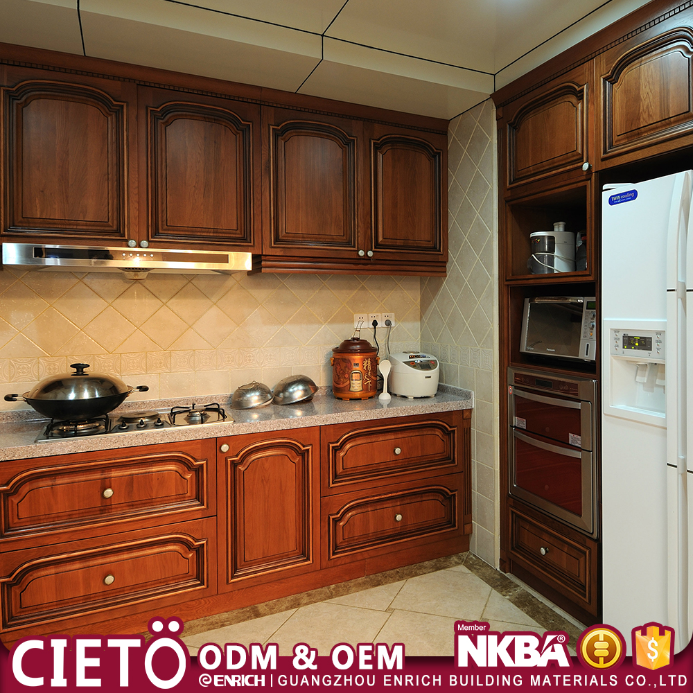 Projects solid wood luxury kitchen furniture wholesaler