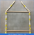 Home craft wood Macaron bead chain hanger for Child room decoration