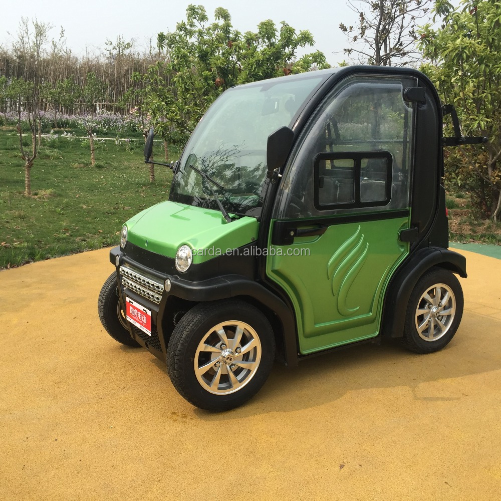 2.2kw battery operated auto 4 wheel electric mini car for 2 passenger for sale