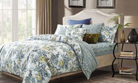 100% cotton pigment printed bedspread/bed sheet /bedding set luxury