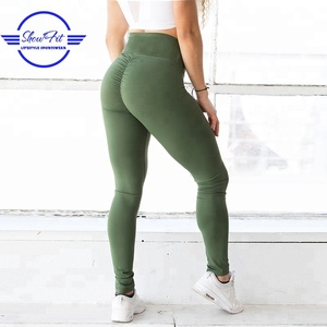 High waist booty yoga lift pants scrunch butt fitness leggings for women