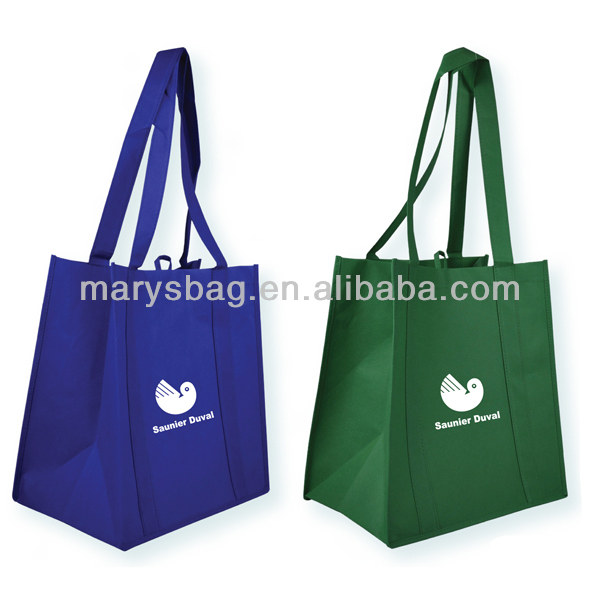 Non Woven Tote Bag with cardboard insert to strengthen the bottom