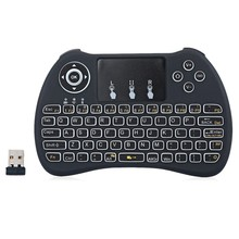 Mini Touchpad Air remote H9 Black white light 2.4GHZ Wireless Keyboard H9