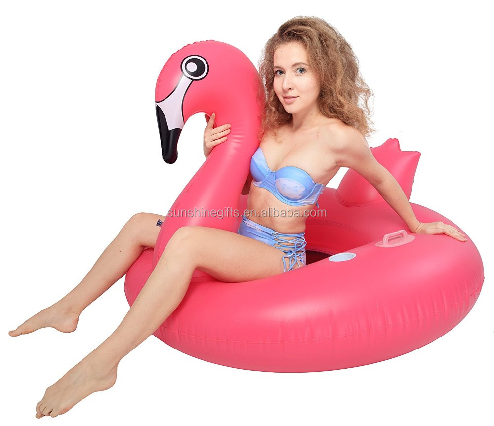 Inflatable Water Lounger Bed Unicorn Series Pink Inflatable Flamingos Party Tube
