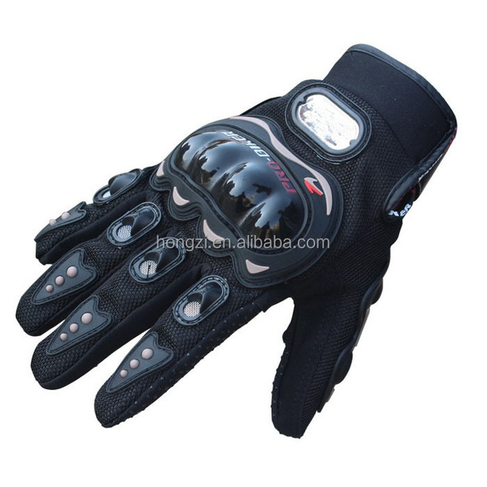 Pair Black Sports Motorbike Motorcycle Gloves 3D-Dimensional Breathable Mesh Fabric Summer Gloves Popular Leather