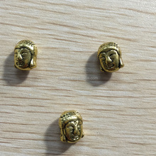 Zinc alloy buddha beads /buddha head beads gold plating
