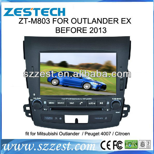 ZESTECH digital audio recording devices autoradio car dvd gps player for Mitsubishi Outlander