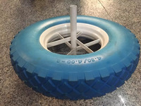 PU Foam wheel barrow wheel 4.00-8 16*4""