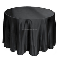 "Wedding 120"" Black Table Cover Round Table Cloth"