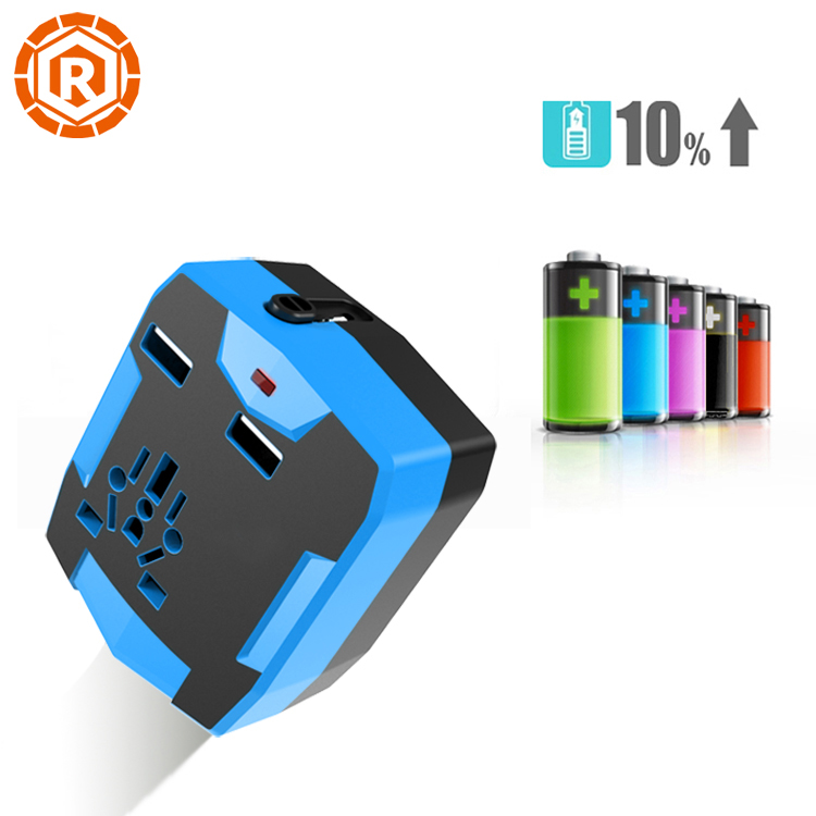 Factory High Quality Portable Universal Travel Adapter USB Charger With Power Bank