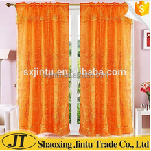 2018 ready made curtain embroidered sheer silk curtains