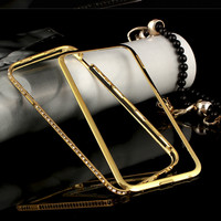 For iPhone 6 Diamond Case Crystal Bling Cover Metal Aluminum Bumper Case For iPhone 6 Plus