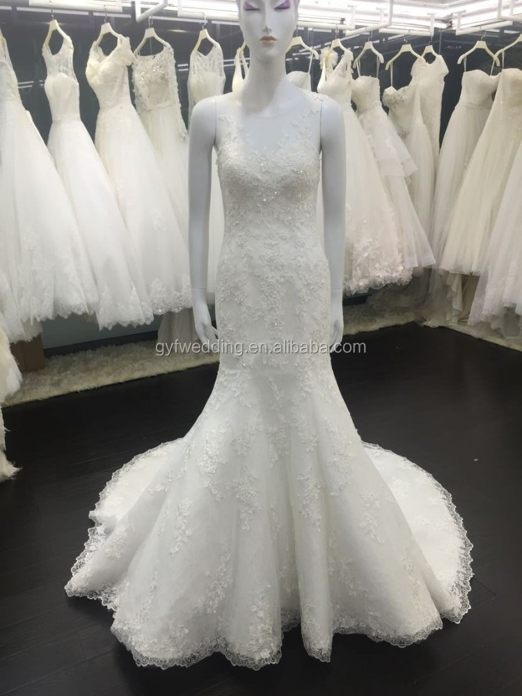 Floor-Length Hemline lace and OEM Service Supply Type Wedding Dress/ Sweetheart Bridal Wedding Gown VW257-1
