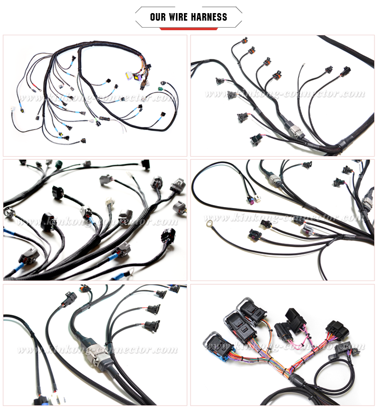 Kinkong Distributor auto electrical connector Wiring Harness