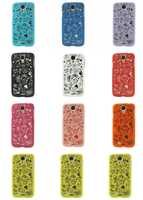 Cartoon Graffiti Matte Back Plastic Hard Case for Samsung Galaxy S4