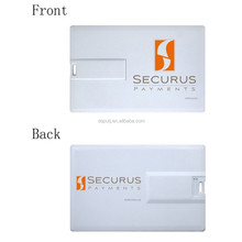 top selling rectangle shape credit card usb flash drive with custom logo