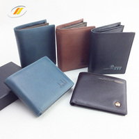 Manufacture Man Genuine Foldable Leather Wallet